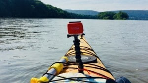 GoPro Mounted on Kayak