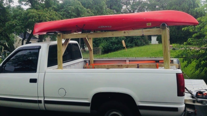 DIY Kayak Rack for truck
