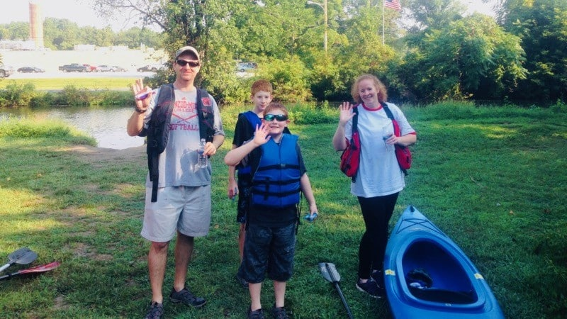 Family Ready for Kayaking